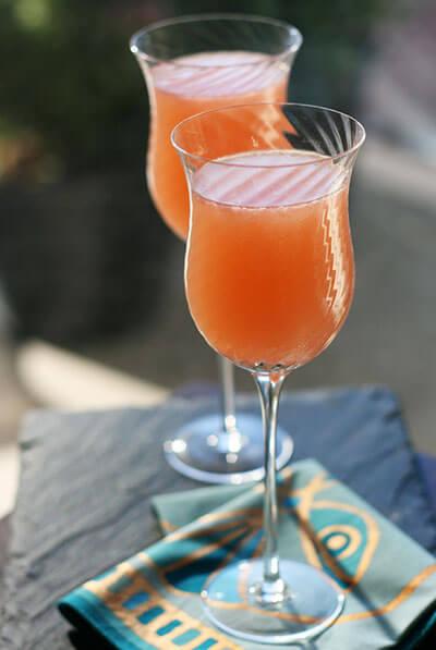 Pink baijiu cocktails