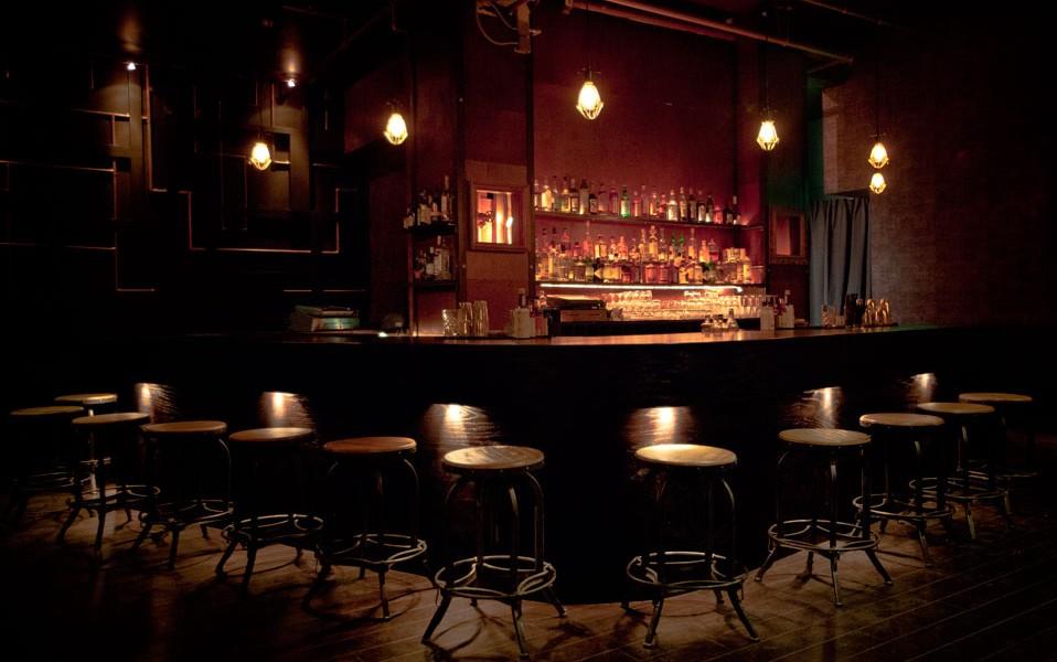 Dark bar for baijiu tasting