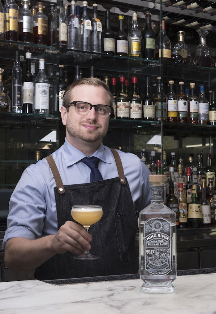 Patrick Smith with a baijiu cocktail