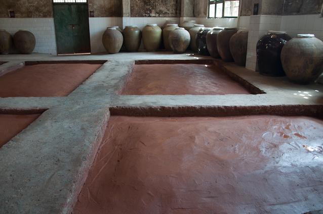 Stone baijiu fermentation pits