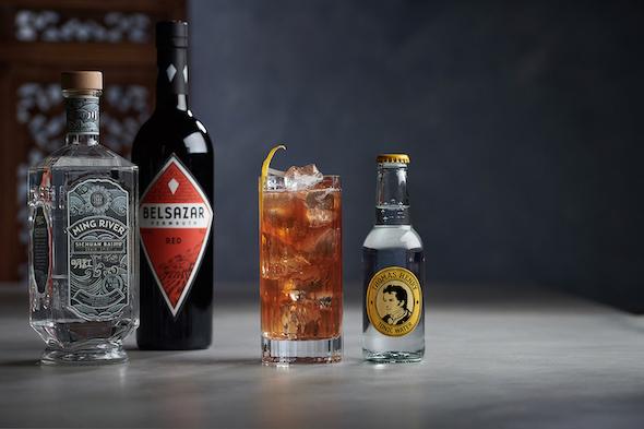 Baijiu tonic vermouth cocktail